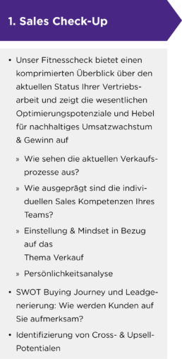 Sales Check-Up für Start-Ups